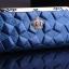 กระเป๋าสตางค์ BENLEI พร้อมส่ง สีน้ำเงิน ดีเทลลวดลายเก๋ ใบยาว DESING สุดเก๋ ไฮโซมากๆ ลายเก๋ๆ thumbnail 3