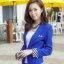 เสื้อสูทแฟชั่น พร้อมส่ง สีน้ำเงิน คอปก แขนยาวแต่งแขนพับลายทาง ออกแบบกระเป๋าเก๋ เนื้อผ้าดี ใส่ทำงานได้ thumbnail 6