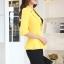 เสื้อสูทแฟชั่น พร้อมส่ง สีเหลือง คอปก ดีเทลแขนพับสามส่วน ไหล่ยกนิดๆ เข้ารูปช่วงเอว แต่งระบาย ด้านหลังด้วยผ้าชีฟอง น่ารักมากๆ thumbnail 4