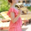 ชุดว่ายน้ำแฟชั่น : ชุดว่ายน้ำวันพีช สีชมพู สม๊อคช่วงอก คอวีลึก แต่งระบายช่วงแขน กระโปรงพริ้วๆน่ารัก ด้านในเป็นกางเกงติดกับตัวชุดค่ะ thumbnail 5