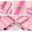 กระเป๋ารถเข็นโต๊ะเครื่องแป้ง กล่องเก็บเครื่องสำอาง Professional major beauty case boxes stand - Pink thumbnail 3