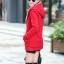 เสื้อกันหนาวสีแดง พร้อมส่ง แฟชั่นมาใหม่สไตล์เกาหลี ซิบหน้า มีฮูดสุดเท่ห์ ฮูดบุด้วยขนสัตว์สังเคราะห์นิ่มๆ thumbnail 4