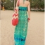 MAXI DRESS - ชุดเดรสยาว พร้อมส่ง โทนเขียว-ฟ้า สายคล้องคอ แต่งลวดลายสุดเก๋ๆทั้งชุด thumbnail 6