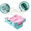 กระเป๋าใส่เครื่องสำอาง กล่องเก็บเครื่องสำอาง ลายจุด ( สีฟ้า )BEAUTY SECRET D Professional Cosmetic Case thumbnail 2