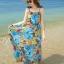 MAXI DRESS ชุดเดรสยาว พร้อมส่ง สีโทนฟ้า ผ้าชีฟอง เนื้อนิ่ม ใส่สบาย พิมพ์ลายดอกไม้สวยมากๆค่ะ thumbnail 3
