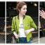 เสื้อแจ็คเก็ต เสื้อหนังแฟชั่น เสื้อคลุม พร้อมส่ง สีชมพู หนัง PU แขนยาว จั้มช่วงเอวและแขนเสื้อลายทางสุดเท่ห์สุดๆ กระดุมแป๊ก มีซับใน หนังนิ่ม ใส่สบาย thumbnail 6