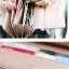 กระเป๋าสตางค์แฟชั่น YADAS พร้อมส่ง สีม่วง ตัดด้วยสีดำ ใบยาว DESIGN สุดเก๋ แต่งปักมุด ปิดเปิดด้วยกระดุมแป๊กเก๋ๆ สวยหรู thumbnail 4