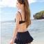 ชุดว่ายน้ำทูพีช สีกรม เสื้อลายดอกไม้ กางเกงแต่งระบายน่ารัก มียกทรงเข้ากับตัวชุด สีสันสดใส น่ารักมากๆ thumbnail 4