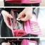 กระเป๋าสตางค์ YADAS พร้อมส่ง สีชมพู แต่งคาดกระดุมแป๊กเก๋ๆ ทรงเรียบหรู ใบยาว DESIGN สุดเก๋ ไฮโซมากๆ thumbnail 5