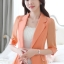 เสื้อสูทแฟชั่น เสื้อสูทสำหรับผู้หญิง พร้อมส่ง สีส้ม ผ้าคอตตอน 100 % เนื้อดี คุณภาพงานพรีเมี่ยม งานตัดเย็บเนี๊ยบ ไม่มีซับในระบายอากาศได้ค่ะ thumbnail 3