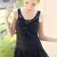 ชุดว่ายน้ำวันพีช สีดำ ดีเทลระบายช่วงหน้าอกเก๋ๆ กระโปรงแต่งด้วยผ้าลูกไม้ น่ารักมากๆ thumbnail 1