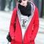 เสื้อกันหนาวสีแดง พร้อมส่ง แฟชั่นมาใหม่สไตล์เกาหลี ซิบหน้า มีฮูดสุดเท่ห์ ฮูดบุด้วยขนสัตว์สังเคราะห์นิ่มๆ thumbnail 2