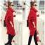 เสื้อกันหนาวไหมพรม พร้อมส่ง สีแดง ตัวโคร่งๆ คอเต่าน่ารัก ถักท่อด้วยผ้าไหมพรมเนื้อแน่น thumbnail 6