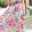 MAXI DRESS ชุดเดรสยาว พร้อมส่ง สีฟ้า เนื้อผ้าชีฟอง อย่างดี มีน้ำหนักผ้าทิ้งตัว ลายดอกไม้สีชมพูสลับสีม่วงสีสันสดใส น่ารักมากๆค่ะ งานสวยเหมือนแบบเลยค่ะ thumbnail 4