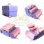 กระเป๋าใส่เครื่องสำอาง กล่องเครื่องสำอาง สีม่วง Beautysecretd high-end custom wood vanity case series purple retro portable thumbnail 2