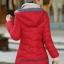 เสื้อโค้ทแฟชั่น พร้อมส่ง สีแดง ตัวยาว แต่งซิบรูดสีเทา แต่งปลายแขน และ ชายเสื้อด้วยสีเทา มีฮูทสุดเท่ห์ แฟชั่นมาใหม่สไตล์เกาหลี thumbnail 3