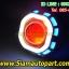 ไฟโปรเจคเตอร์มอเตอ์ไซค์ทรงเหลี่ยมไฟวงแหวนLEDแบบCOB thumbnail 3