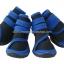 รองเท้าสุนัขโต สีน้ำเงิน-ดำ ลายรัดคอเท้า (4 ข้าง) thumbnail 1