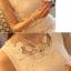 เสื้อแฟชั่น พร้อมส่ง สีขาว ดีเทลด้วยไหมพรมถักดอกไม้แต่งตัวเสื้อ ใส่ทำงานได้ thumbnail 2