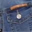 แจ็คเก็ตยีนส์ พร้อมส่ง สียีนส์ ฟอกสีสวย แขนยาว คอปก ดีเทลกระเป๋าด้านหน้าเก๋ แฟชั่นมาใหม่สไตล์เกาหลี thumbnail 7