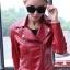 เสื้อแจ็คเก็ต เสื้อหนังแฟชั่น พร้อมส่ง สีแดง คอปก ดีเทลด้วยปกโฉบเฉี่ยว แต่งด้วยซิบรูด สุดเท่ห์ หนัง PU คุณภาพดี หนังเนื้อนิ่มหน้าใส่ thumbnail 1