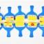 Joan Miro DIY Tool - Sponge Brush roller set of 10 thumbnail 1