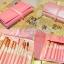 แปรงแต่งหน้า ชุดแปรงแต่งหน้า คุณภาพดี Cerro Qreen spikes of white wool brush set limited - Pink thumbnail 3