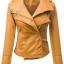เสื้อแจ็คเก็ต เสื้อหนังแฟชั่น พร้อมส่ง สีเหลือง คุณภาพดีมาก งาน Premium Quality สินค้าสวยหนังดี thumbnail 1