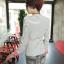 เสื้อสูทแฟชั่น เกาหลี พร้อมส่ง ลายทาง ขาว-ดำ แขนยาว แต่งแขนพับสีชมพูเก๋ คอวีลึก ผ้าเนื้อดี ไม่มีซับใน ใส่สบาย thumbnail 5