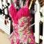 ชุดว่ายน้ำวันพีช สี ROSE ลายดอกไม้สีสันสดใส ผูกสายคล้องคอ โชว์แผ่นหลังเซ็กซี่ แต่งพู่ช่วงหน้าอก ดีเทลย่นๆ ช่วงเอว น่ารักค่ะ thumbnail 12