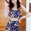 ชุดว่ายน้ำทูพีช สีกรม สายคล้องคอ ดีเทลลายผีเสื้อ และ ดอกไม้สีหวาน กระโปรงแต่งระบายน่ารัก มากๆค่ะ thumbnail 1