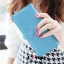 กระเป๋าสตางค์แฟชั่น พร้อมส่ง สีฟ้า แต่งคาดกระดุมแป๊กรูปหัวใจเก๋ๆ ทรงเรียบหรู ใบยาว DESIGN สุดเก๋ ไฮโซมากๆ thumbnail 2