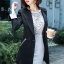 เสื้อสูทแฟชั่น เสื้อสูททำงาน เสื้อสูทผู้หญิง พร้อมส่ง เสื้อสูทสีดำ เนื้อผ้าโพลีเอสเตอร์ คอตตอน 100 % คุณภาพดี thumbnail 3