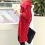 เสื้อกันหนาวไหมพรม พร้อมส่ง สีแดง ตัวโคร่งๆ คอเต่าน่ารัก ถักท่อด้วยผ้าไหมพรมเนื้อแน่น thumbnail 5