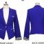 เสื้อสูทแฟชั่น พร้อมส่ง สีน้ำเงิน คอปก แขนยาวแต่งแขนพับลายทาง ออกแบบกระเป๋าเก๋ เนื้อผ้าดี ใส่ทำงานได้ thumbnail 8