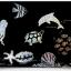 Scratch Cards- Underwater world ชุดศิลปะขูดพร้อม stencil thumbnail 1