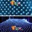 ไฟตาข่าย LED สีฟ้า ขนาดเล็ก thumbnail 1