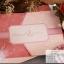 การ์ดแต่งงานแบบสามพับ (ประกบซ้าย-ขวา) แนวนอน ขนาด 5x7 นิ้ว สีชมพู รหัส 290041 *** รุ่นนี้มี Blessing Card (การ์ดอวยพรเล็กๆไว้ให้แขกเขียนอวยพรบ่าว-สาวค่ะ)(พิมพ์เฉพาะทองเงา) thumbnail 1