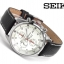 Seiko Men's SNDC87P2 Leather Synthetic Analog with White Dial Watch thumbnail 4
