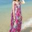 MAXI DRESS ชุดเดรสยาว พร้อมส่ง สีโทนชมพู ผ้าชีฟอง เนื้อนิ่ม ใส่สบาย พิมพ์ลายดอกไม้สวยมากๆค่ะ มีซับใน รับรองสินค้าจริงเหมือนแบบ 100 % thumbnail 2
