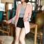 เสื้อสูทแฟชั่น เสื้อสูททำงาน เสื้อสูทผู้หญิง พร้อมส่ง เสื้อสูทสีชมพูหวานๆ เนื้อผ้าโพลีเอสเตอร์ คอตตอน 100 % คุณภาพดี คัตติ้งสวย งานเนี๊ยบ thumbnail 2