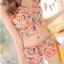 ชุดว่ายน้ำทูพีช สีฟ้า เสื้อลายดอกไม้ สายคล้องคอ แต่งระบาย กางเกงแต่งระบายเป็นชั้นๆ น่ารักมากๆ thumbnail 10