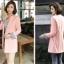 เสื้อสูทแฟชั่น เสื้อสูททำงาน เสื้อสูทผู้หญิง พร้อมส่ง เสื้อสูทสีชมพูหวานๆ เนื้อผ้าโพลีเอสเตอร์ คอตตอน 100 % คุณภาพดี คัตติ้งสวย งานเนี๊ยบ thumbnail 4