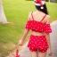 ชุดว่ายน้ำทูพีช สีแดง สายเดี่ยว ดีเทล แขนระบาย โชว์ไหล่เซ็กซี่ ลายหัวใจน่ารัก กระโปรงแต่งระบายสวยมากๆค่ะ thumbnail 3
