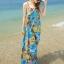 MAXI DRESS ชุดเดรสยาว พร้อมส่ง สีโทนฟ้า ผ้าชีฟอง เนื้อนิ่ม ใส่สบาย พิมพ์ลายดอกไม้สวยมากๆค่ะ thumbnail 2