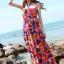 Maxi dress ชุดเดรสยาว พร้อมส่ง สีพื้นน้ำเงินลายดอกไม้สีสันสดใส สวยมากๆค่ะ เนื้อผ้า ice silk อย่างดี ใส่สบาย เนื้อผ้ามีความยืดหยุ่นได้ดีค่ะ thumbnail 1