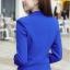 เสื้อสูทแฟชั่น พร้อมส่ง สีน้ำเงิน คอปก แขนยาวแต่งแขนพับลายทาง ออกแบบกระเป๋าเก๋ เนื้อผ้าดี ใส่ทำงานได้ thumbnail 7