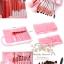 แปรงแต่งหน้า ชุดแปรงแต่งหน้า คุณภาพดี Cerro Qreen spikes of white wool brush set limited - Pink thumbnail 2
