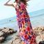 Maxi dress ชุดเดรสยาว พร้อมส่ง สีพื้นน้ำเงินลายดอกไม้สีสันสดใส สวยมากๆค่ะ เนื้อผ้า ice silk อย่างดี ใส่สบาย เนื้อผ้ามีความยืดหยุ่นได้ดีค่ะ thumbnail 3