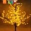 ไฟต้นเชอรี่ 1.5 m 480 led สีเหลือง thumbnail 1